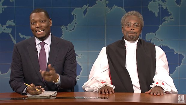 Michael Curry Royal Wedding.Snl Bishop Michael Curry Visits Weekend Update To Talk About His