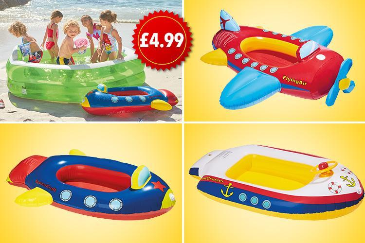 lidl is now selling inflatable boats aeroplanes and. Black Bedroom Furniture Sets. Home Design Ideas
