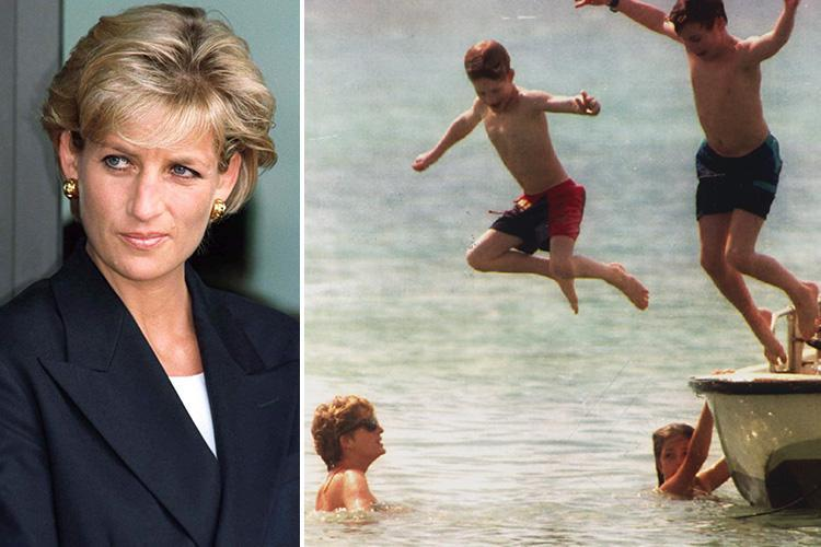 Princess Diana once dived into a swimming pool in her dressing gown ...