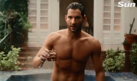 Tom Ellis strips topless in racy ad for Netflixs Lucifer